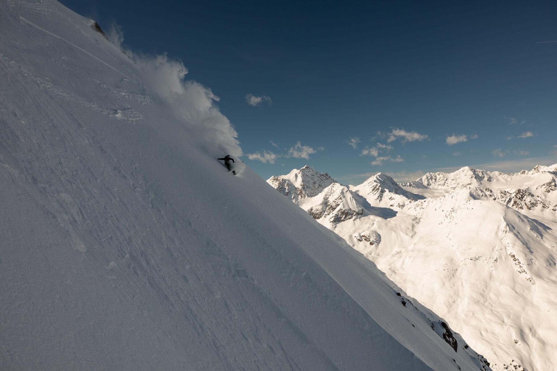 Fabi Lentsch Skiing Big Mountain Dream Lines